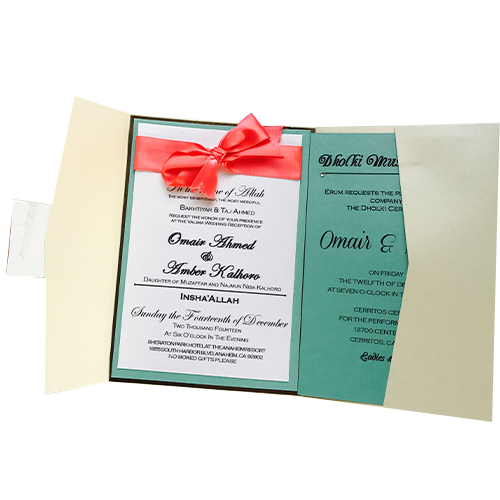 wedding invitation tri fold starts with paper